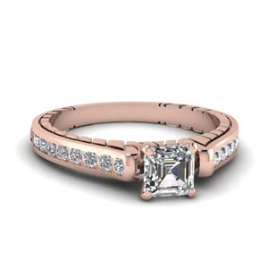 Channel Diamond Engagement Ring