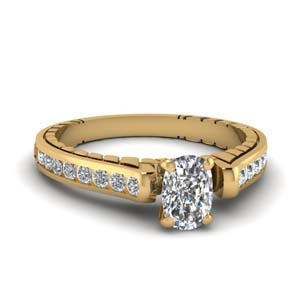 Cathedral Channel Set Ring 1 Ct.