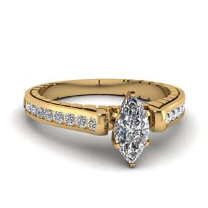 Marquise Shaped 1 Ctw. Ring