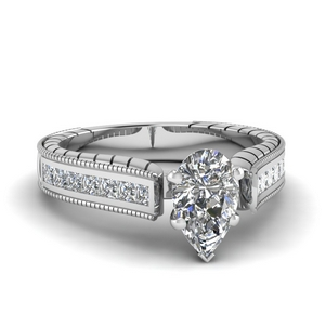 1.50 Ct. Cathedral Pear Diamond Ring