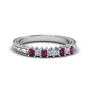 Antique Looking Pink Sapphire Band