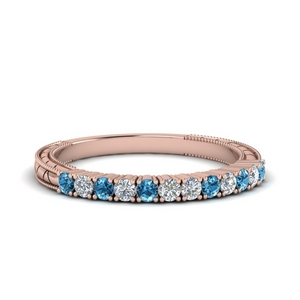 Delicate Topaz Wedding Band