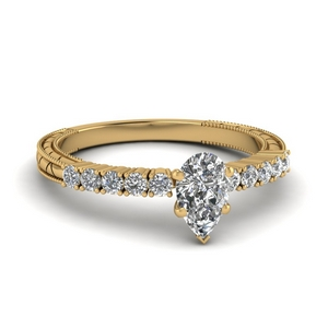 Milgrain Diamond Vintage Ring