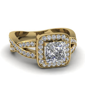 1.25 Ct. Square Halo Pave Ring