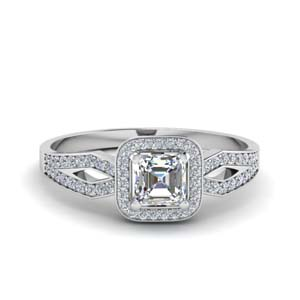 Shank Halo Diamond Ring