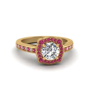 Pink Sapphire Floral Ring