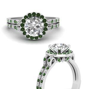 Round Gallery Halo Ring