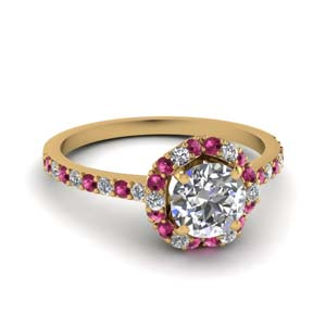 Petite Flower Pink Sapphire Ring