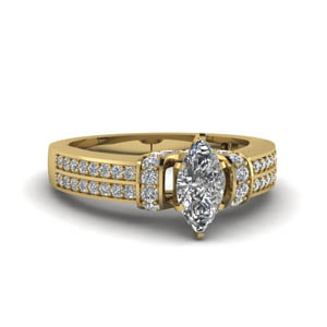 Marquise Ring In 18K Yellow Gold