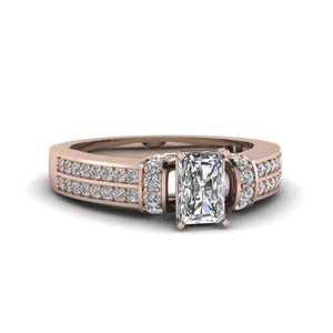 Classic 2 Row Pave Radiant Cut Ring
