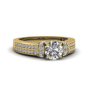 Pave Wrap Engagement Ring