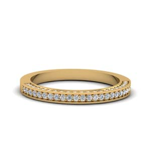 Gold Pave Diamond Band