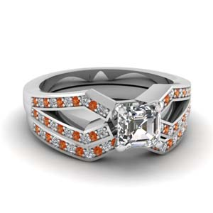 Split Wedding Ring Set