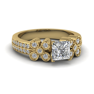 2 Row Diamond Daisy Ring