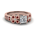 Butterfly Diamond Ring With Ruby