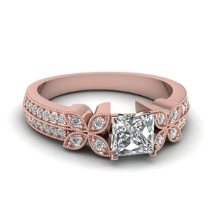 Princess Cut Petal Ring