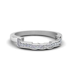 Unique Diamond Curved Band