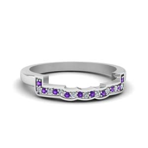 Purple Topaz Contour Curved Band