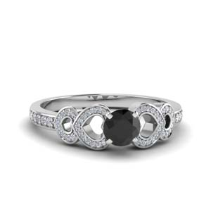 Black Diamond Pave Ring