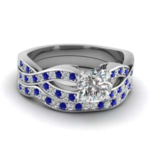 Entwined Sapphire Bridal Ring Set