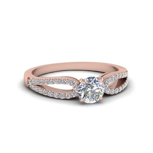 Rose Gold Diamond Promise Ring
