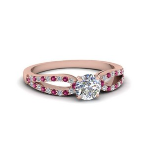 Pink Sapphire 18K Rose Gold Ring