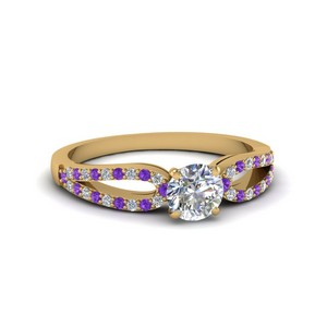 Purple Topaz Loop Ring