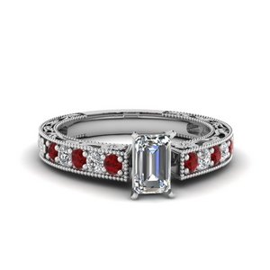 Milgrain Design Platinum Ring
