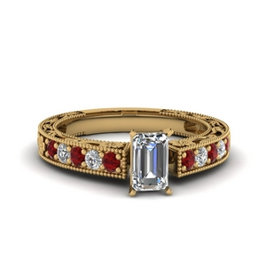 Art Deco Ruby Wedding Ring