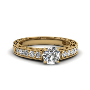 0.75 Carat Pave Diamond Ring