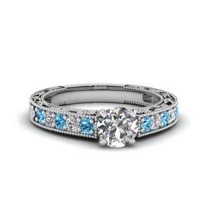 Pave Vintage Engagement Ring