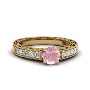 Antique Yellow Gold Morganite Ring