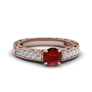 Ruby With Colored Engagement Ring