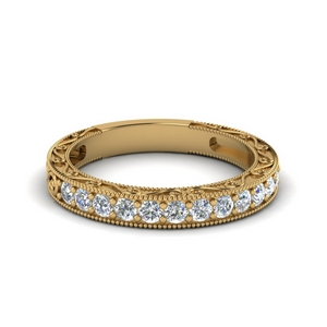 Filigree Pave Diamond Band