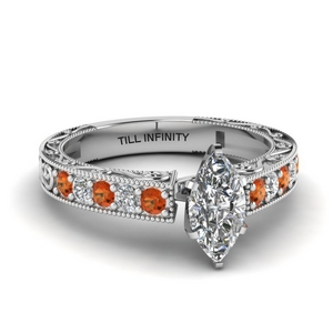 Marquise Shaped Vintage Look Ring