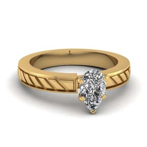 Brick Design Diamond Ring