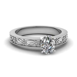 Platinum Engraved Ring