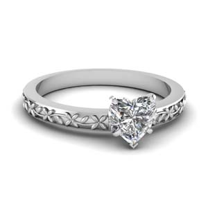 Floral Chain Diamond Ring