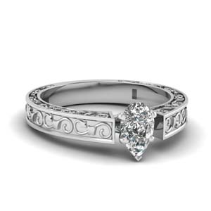 pear shaped filigree solitaire engagement ring in FDENS3583PER NL WG.jpg