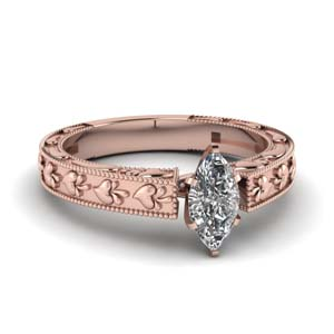 Rose Gold Single Diamond Ring