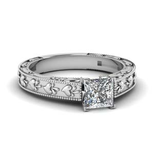 Platinum Princess Cut Solitaire Ring