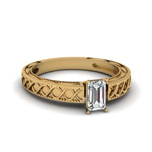 Gold Emerald Cut Ring