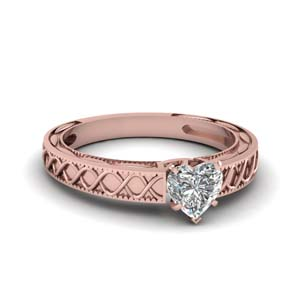 Solitaire Heart Shaped Ring
