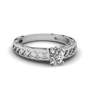 Platinum Carved Ring