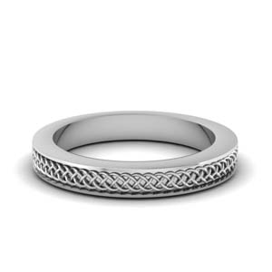 Intertwined Engraved Wedding Band