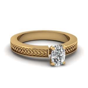 Weaved Design Solitaire Ring