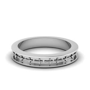 Cross Design Women Wedding Band