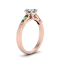 asscher-cut-diamond-duet-bar-side-stone-ring-with-green-emerald-in-18K-rose-gold-FDENS363ASRGEMGRANGLE2-NL-RG