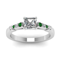 asscher-cut-diamond-duet-bar-side-stone-ring-with-green-emerald-in-950-Platinum-FDENS363ASRGEMGRANGLE5-NL-WG