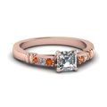 asscher-cut-diamond-duet-bar-side-stone-ring-with-orange-sapphire-in-14K-rose-gold-FDENS363ASRGSAOR-NL-RG